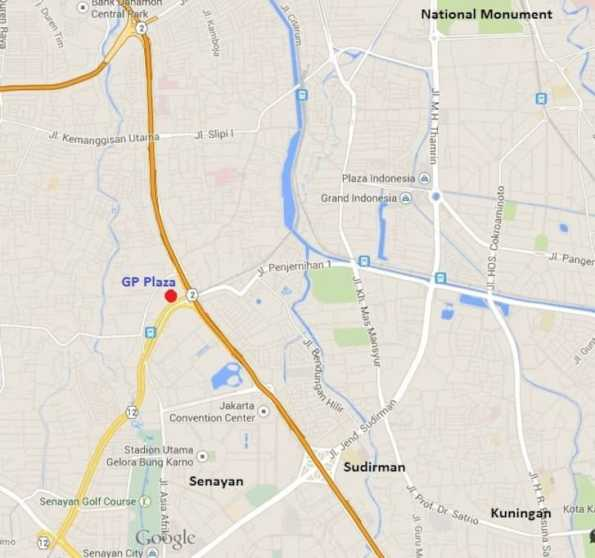 Lokasi GP Plaza Slipi Senayan